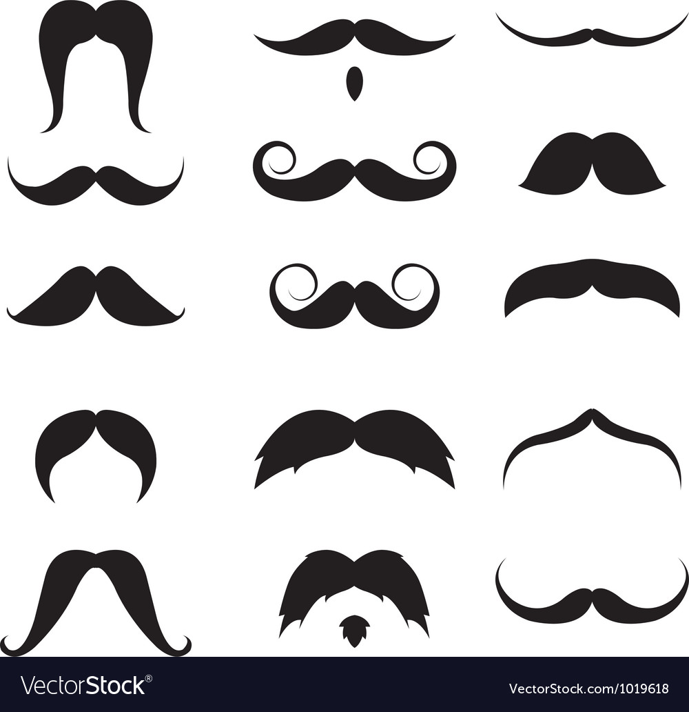 Mustache set vector | Price: 1 Credit (USD $1)