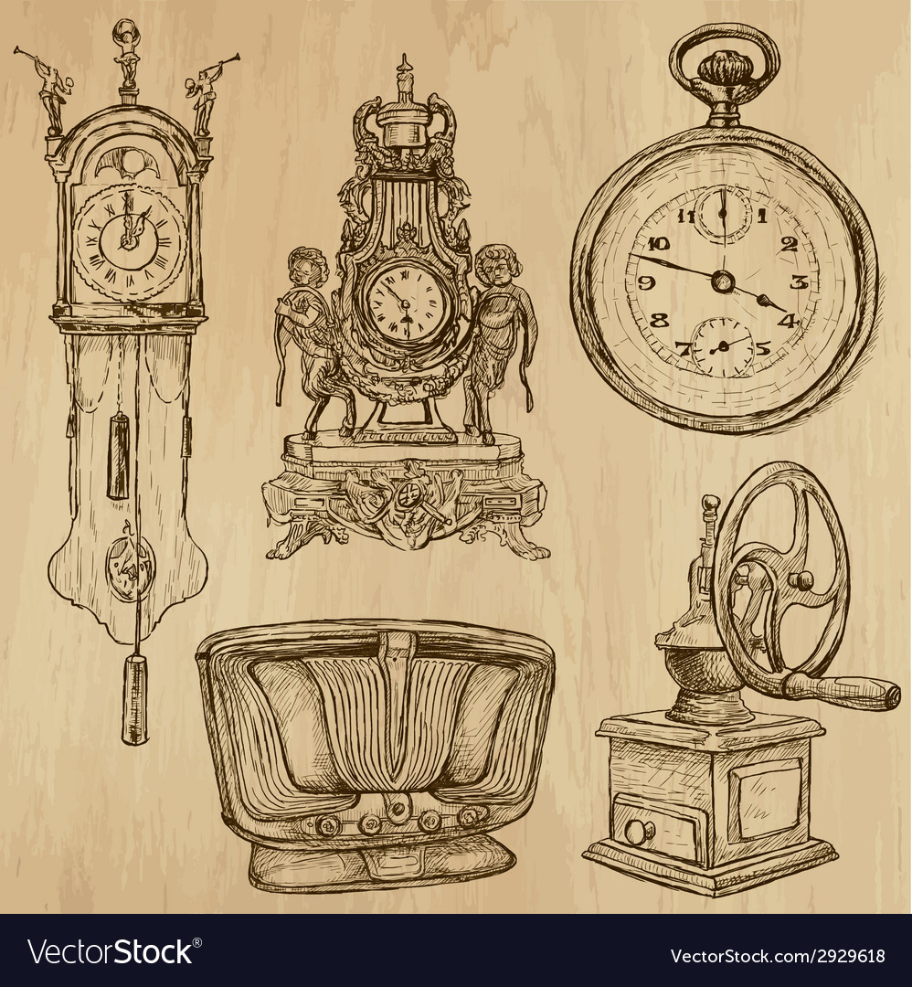Old objects no5 - hand drawn collection vector | Price: 1 Credit (USD $1)