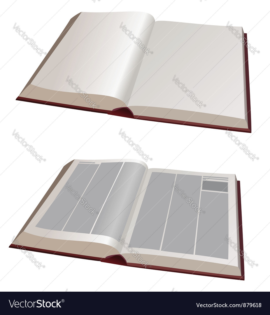 Open books vector | Price: 1 Credit (USD $1)