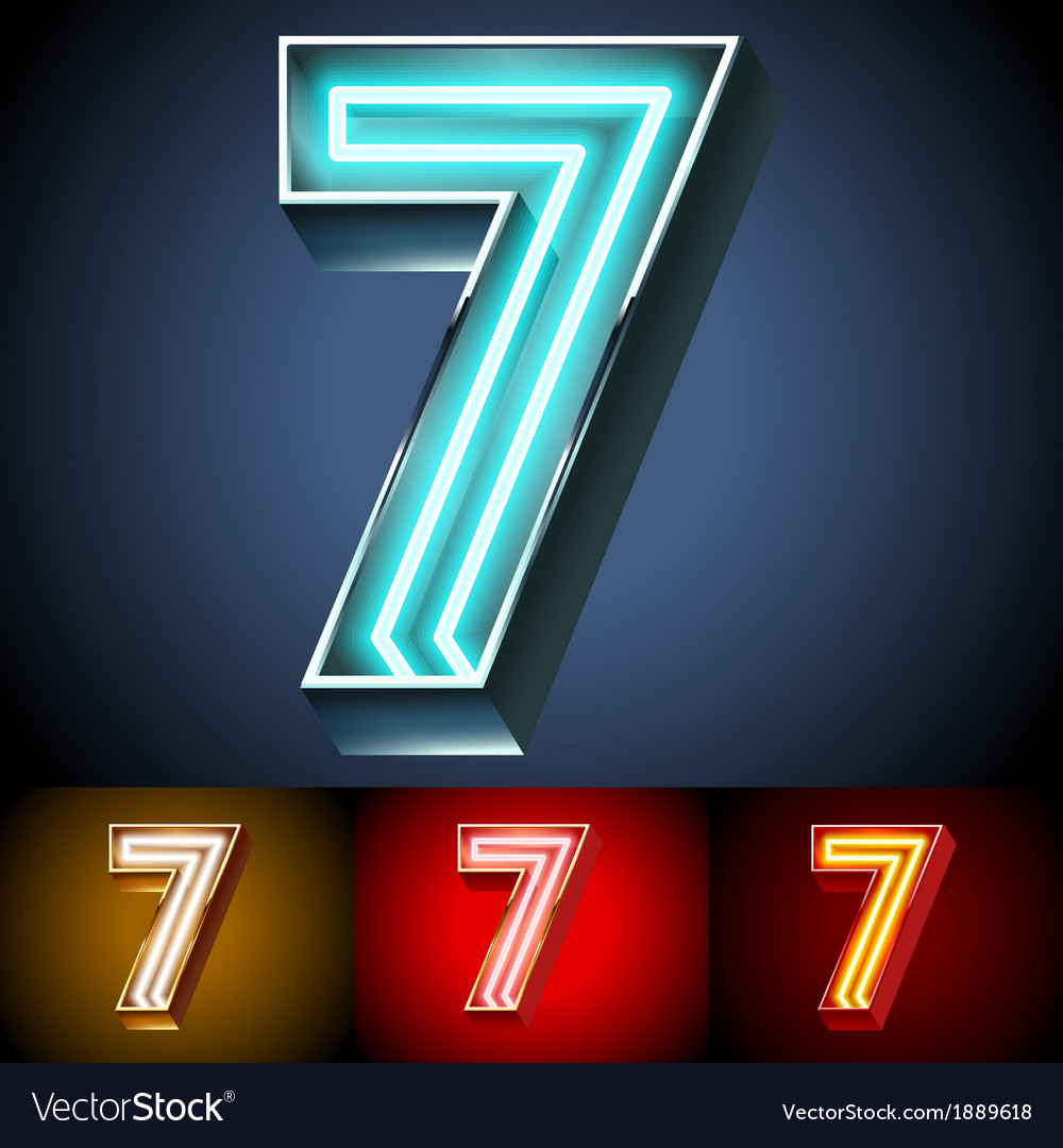 Realistic neon tube alphabet for light board vector   Price: 1 Credit (USD $1)