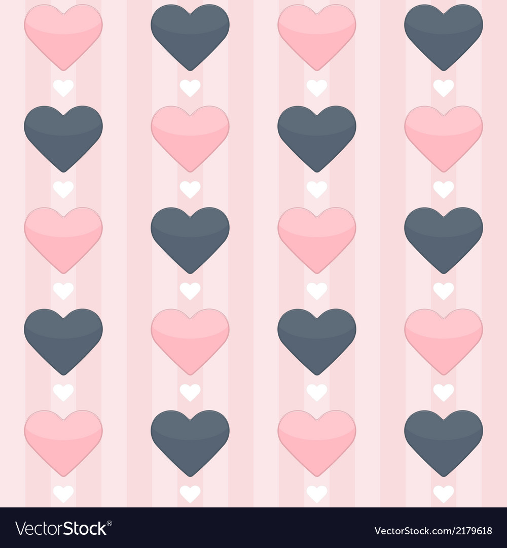 Seamless pattern with blue and pink hearts on a vector | Price: 1 Credit (USD $1)