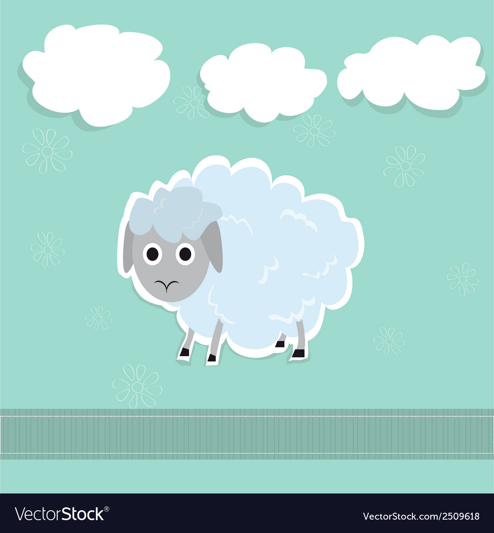 Sheep and clouds cute vector | Price: 1 Credit (USD $1)