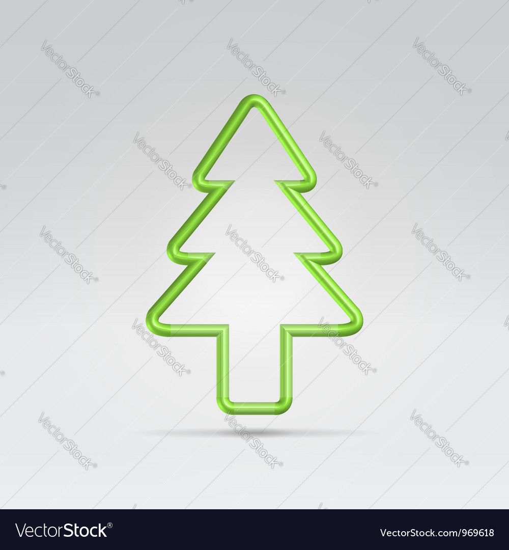Wire fur tree xmas symbol vector | Price: 1 Credit (USD $1)