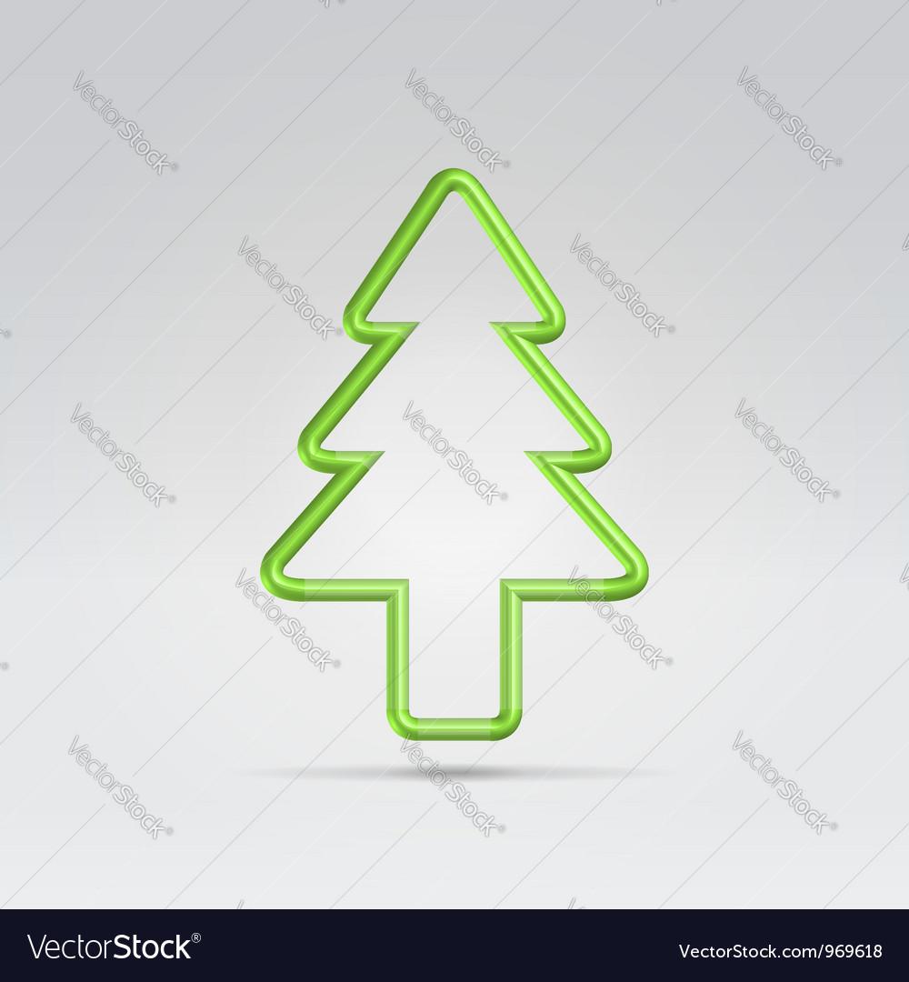 Wire fur tree xmas symbol vector | Price:  Credit (USD $)