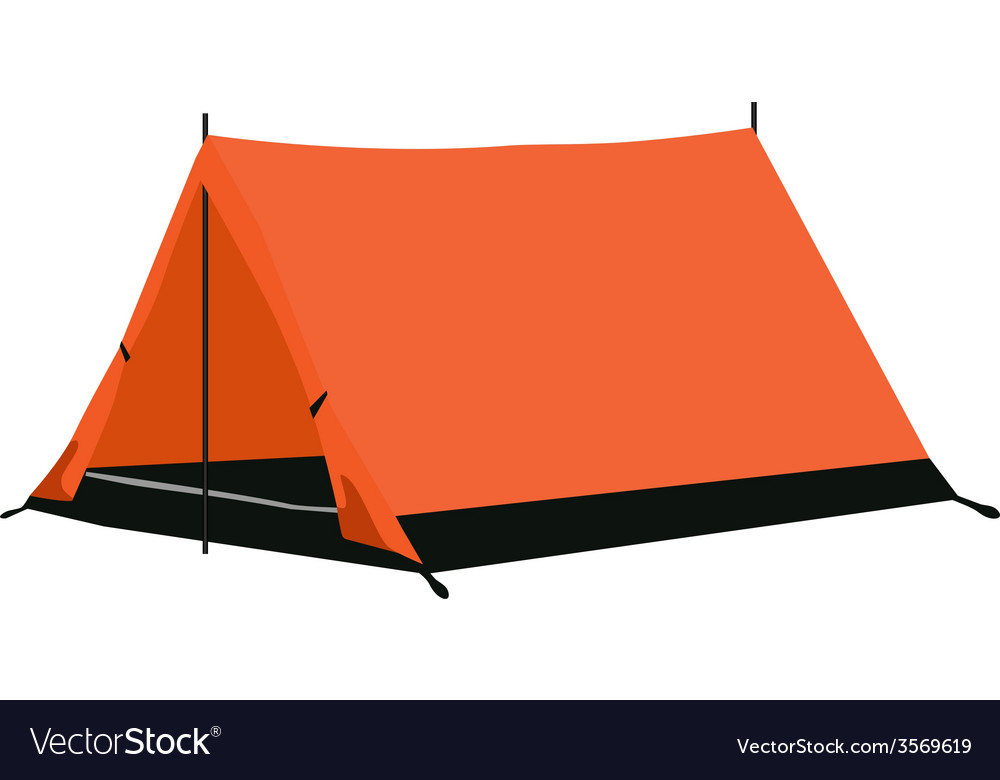 Camping tent orange vector | Price: 1 Credit (USD $1)