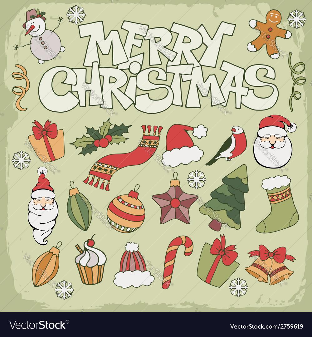Christmas icon set vector   Price: 1 Credit (USD $1)