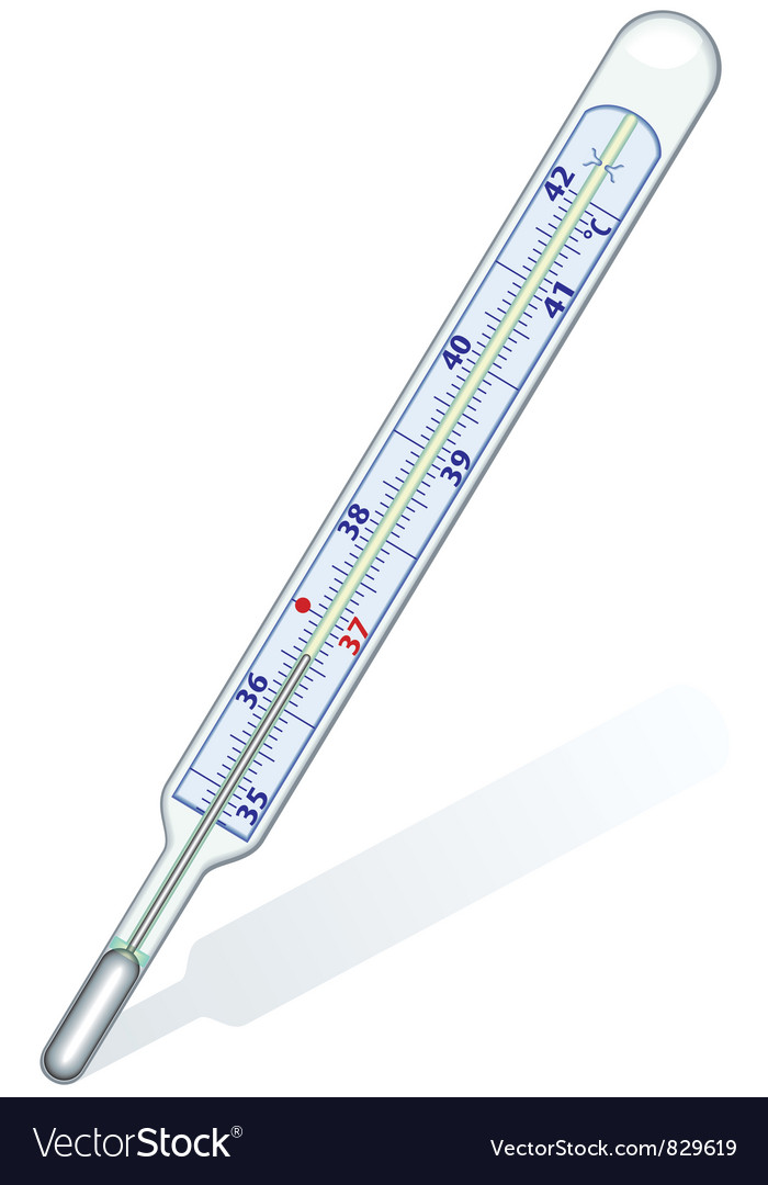 Clinic thermometer vector | Price: 1 Credit (USD $1)