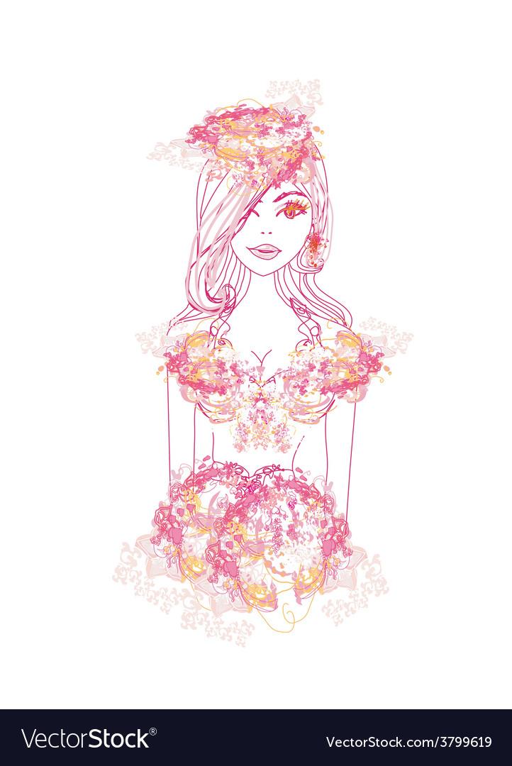 Creative fashion portrait vector | Price: 1 Credit (USD $1)