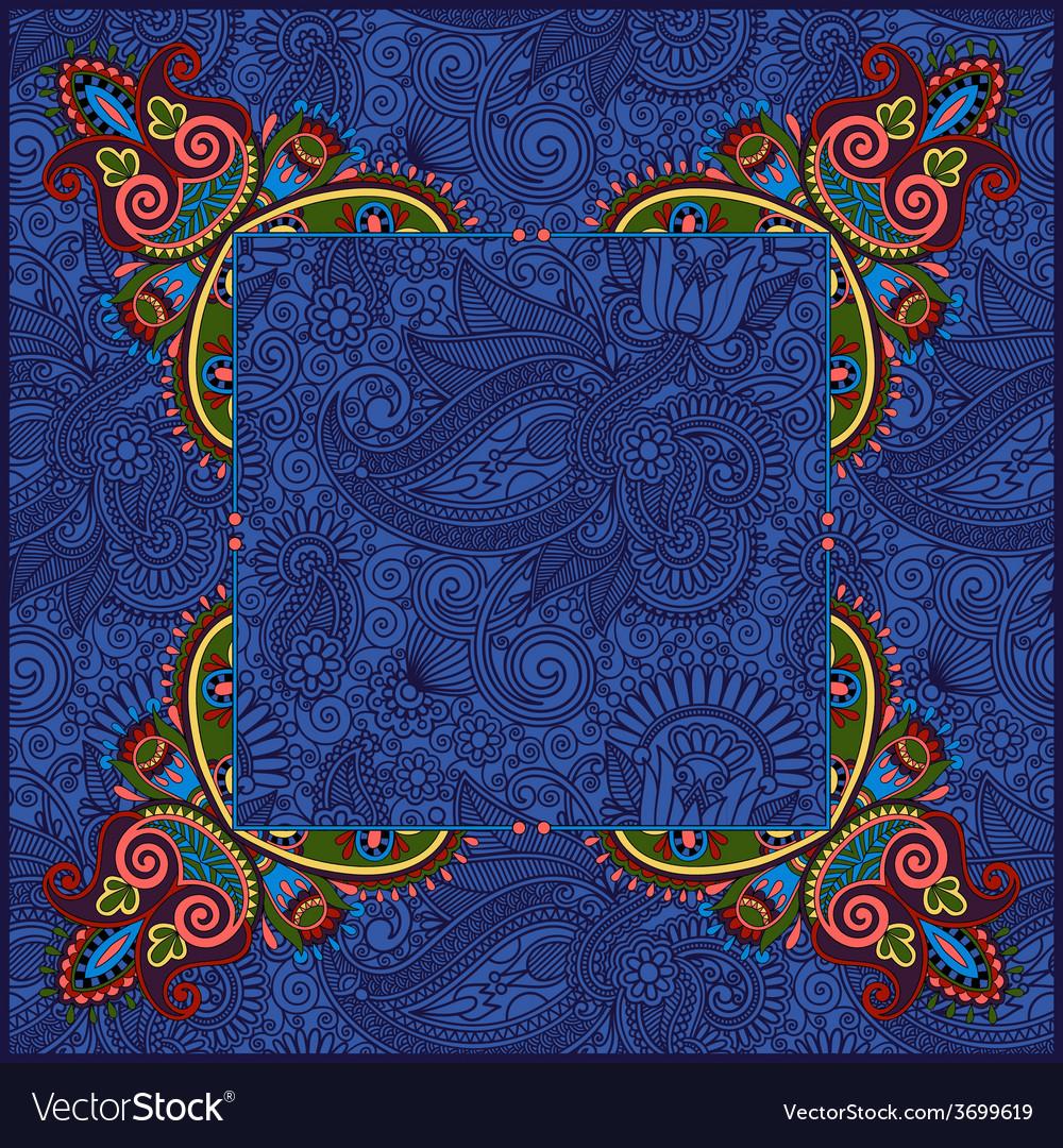 Ethnic ukrainian ornament on paisley background vector | Price: 1 Credit (USD $1)