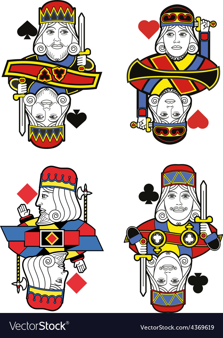 Four kings no cards vector | Price: 1 Credit (USD $1)