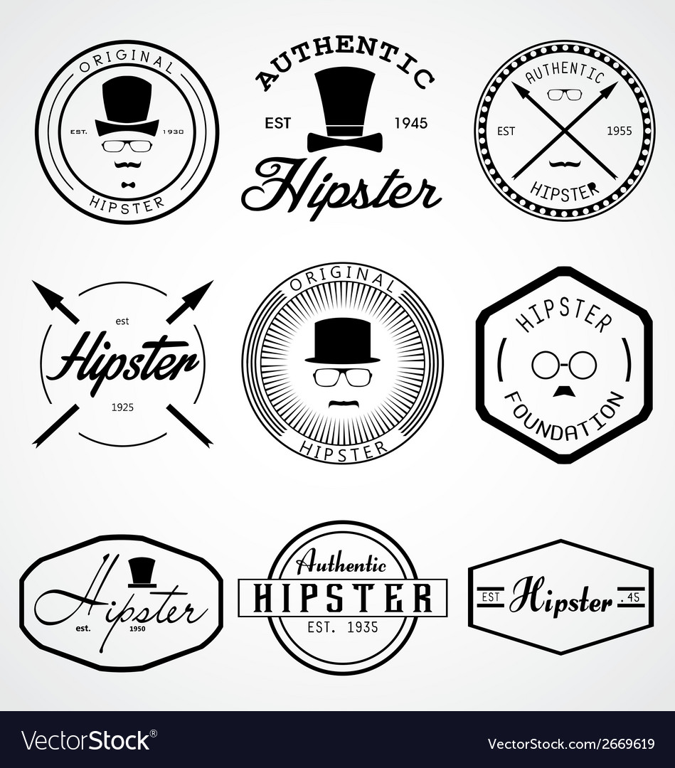 Hipster badges labels vector | Price: 1 Credit (USD $1)