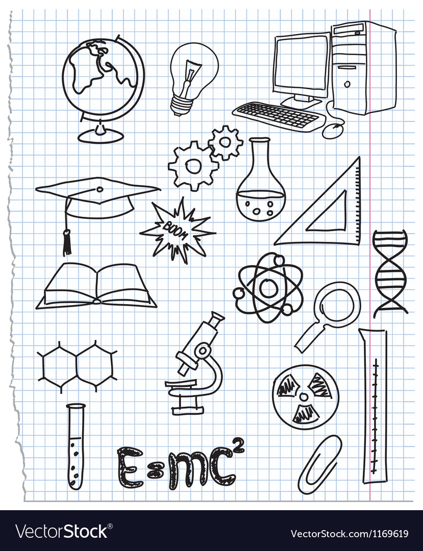 Icons a science vector | Price: 1 Credit (USD $1)