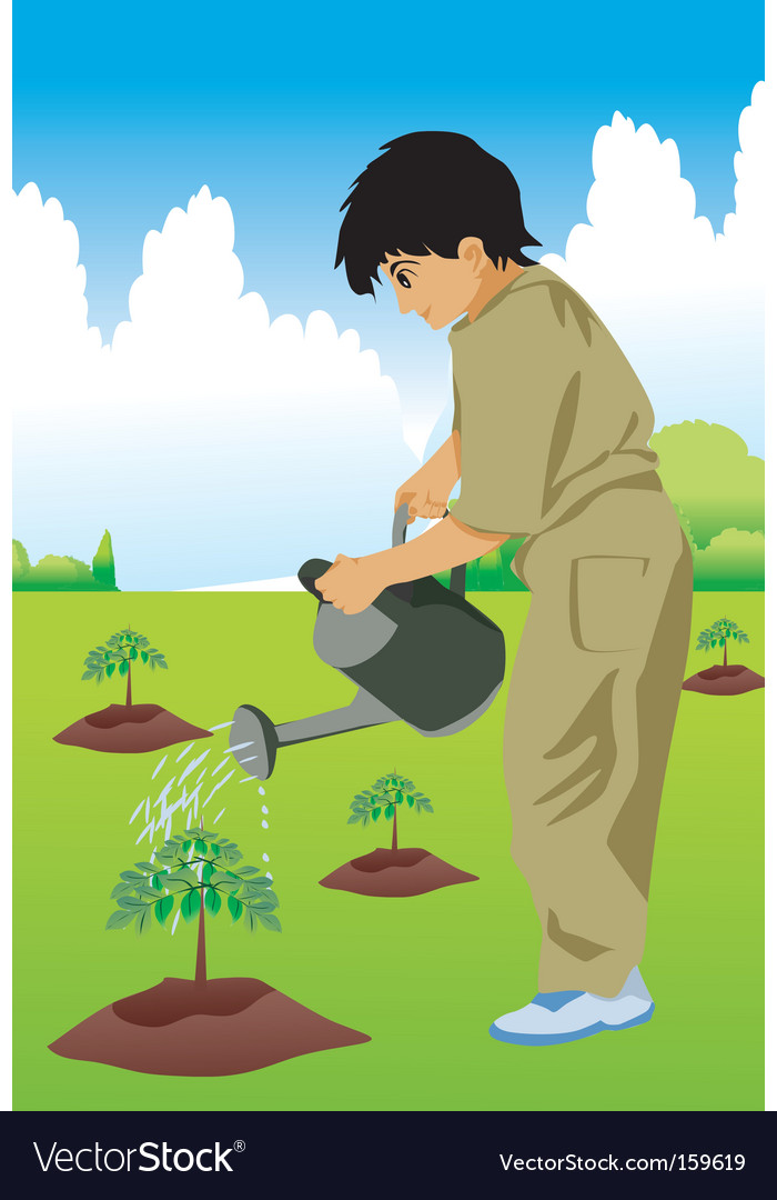 Kid hose plant vector | Price: 1 Credit (USD $1)