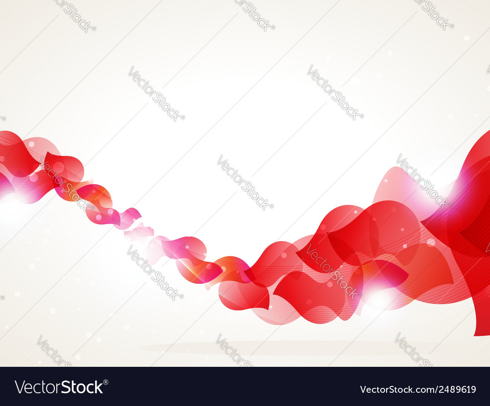Red petals wave vector | Price: 1 Credit (USD $1)