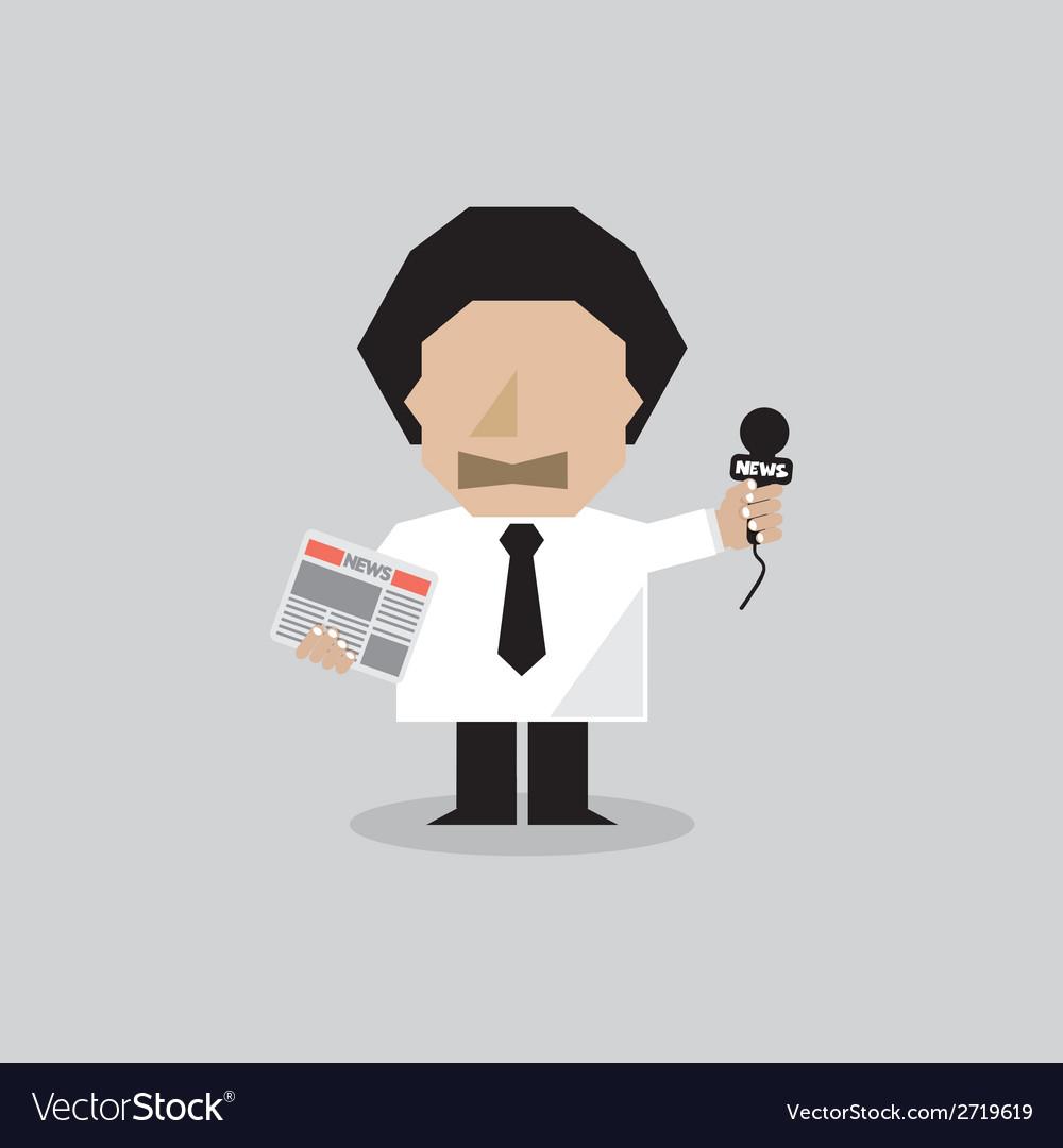 Reporter man vector | Price: 1 Credit (USD $1)