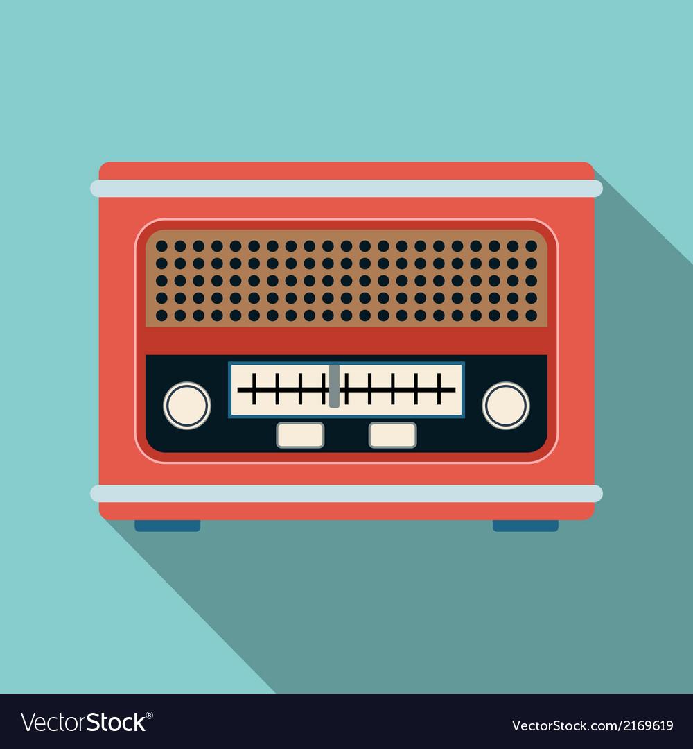 Retro radio receiver vector | Price: 1 Credit (USD $1)