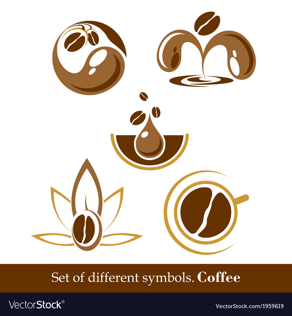 Set of signs and symbols of coffee vector | Price: 1 Credit (USD $1)