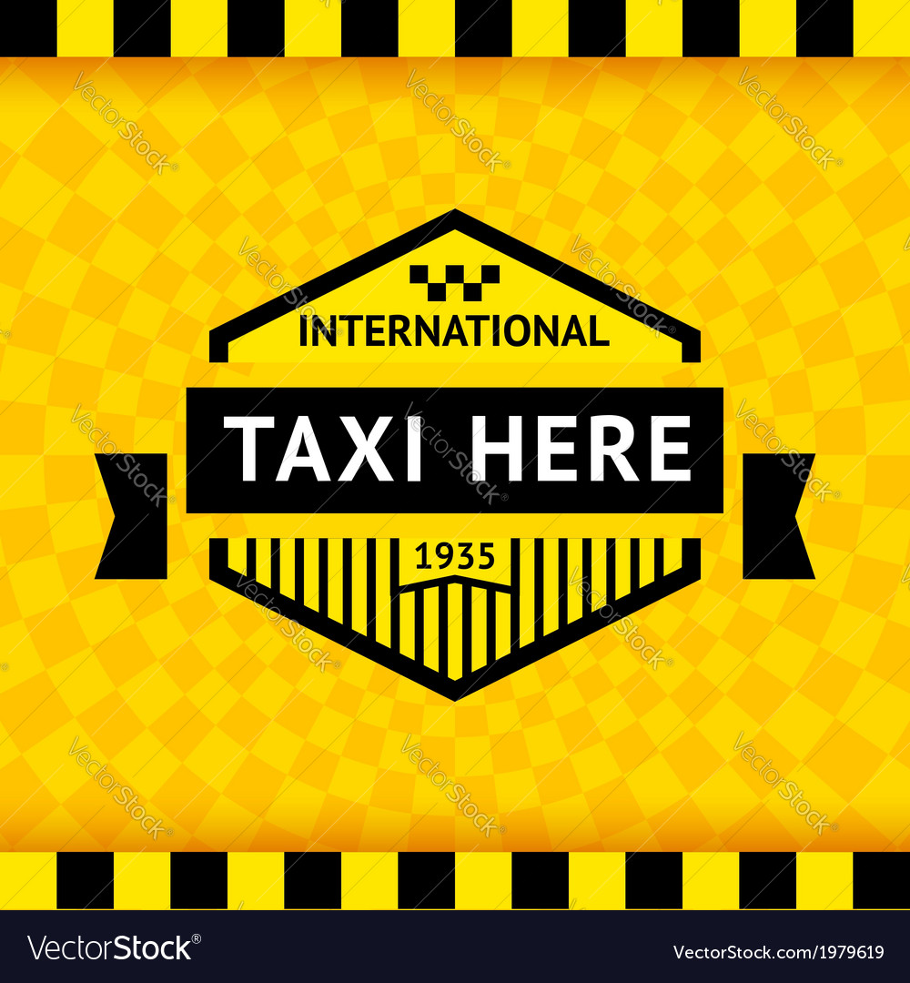 Taxi symbol with checkered background - 05 vector | Price: 1 Credit (USD $1)