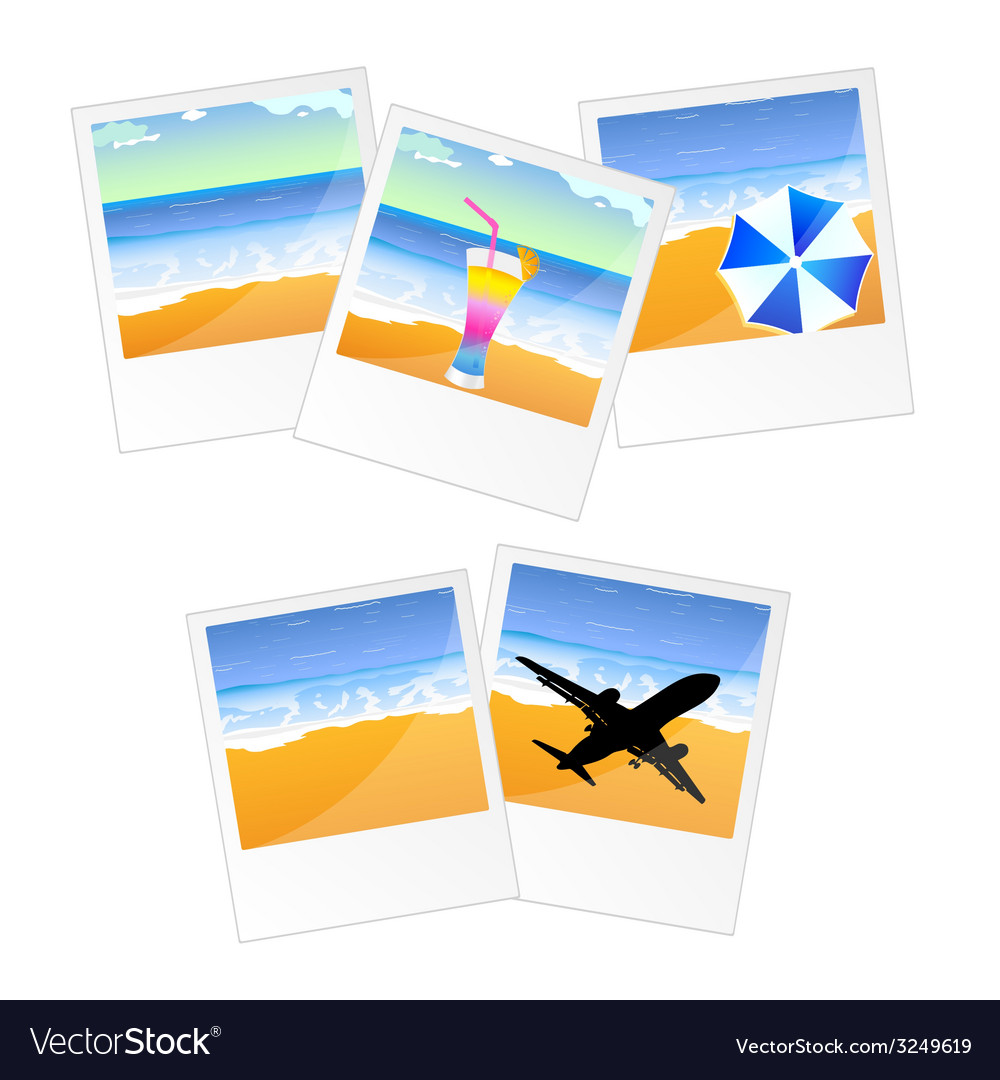 Travel picture and frame vector | Price: 1 Credit (USD $1)