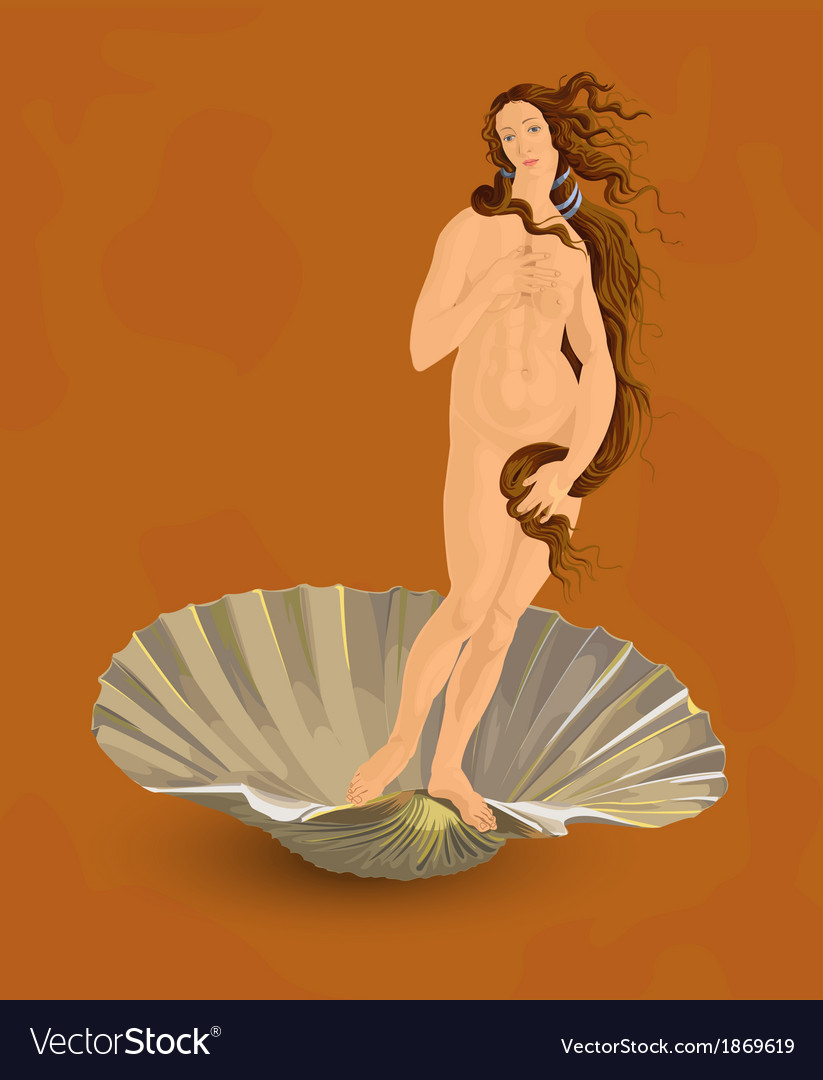 Venus the ideal of feminine beauty vector | Price: 1 Credit (USD $1)