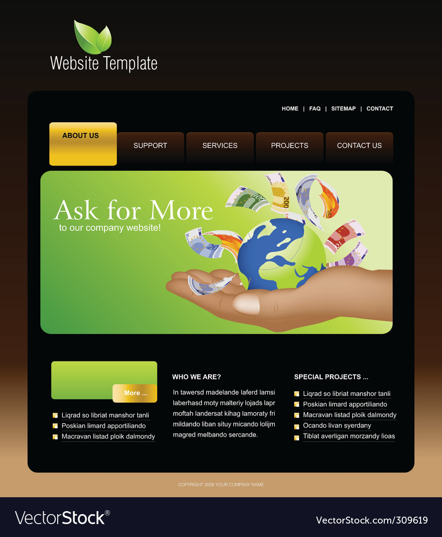 Website business vector | Price: 3 Credit (USD $3)