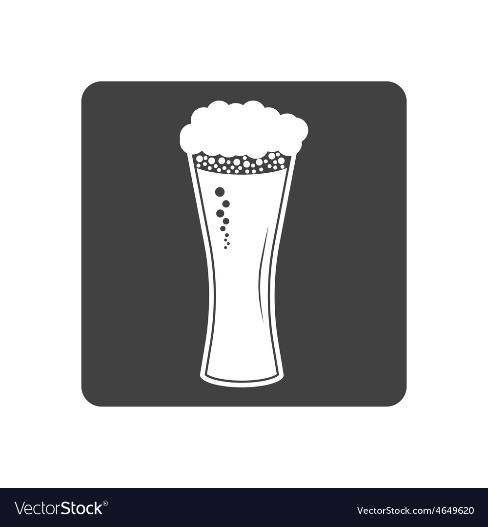 Beer in glass icon simple vector | Price: 1 Credit (USD $1)