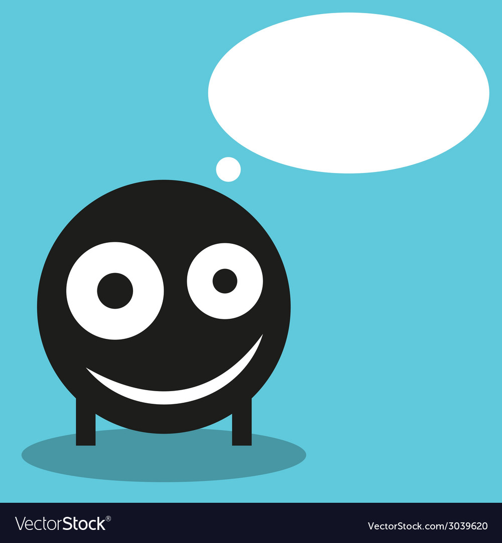 Cute monster with speech balloon vector | Price: 1 Credit (USD $1)