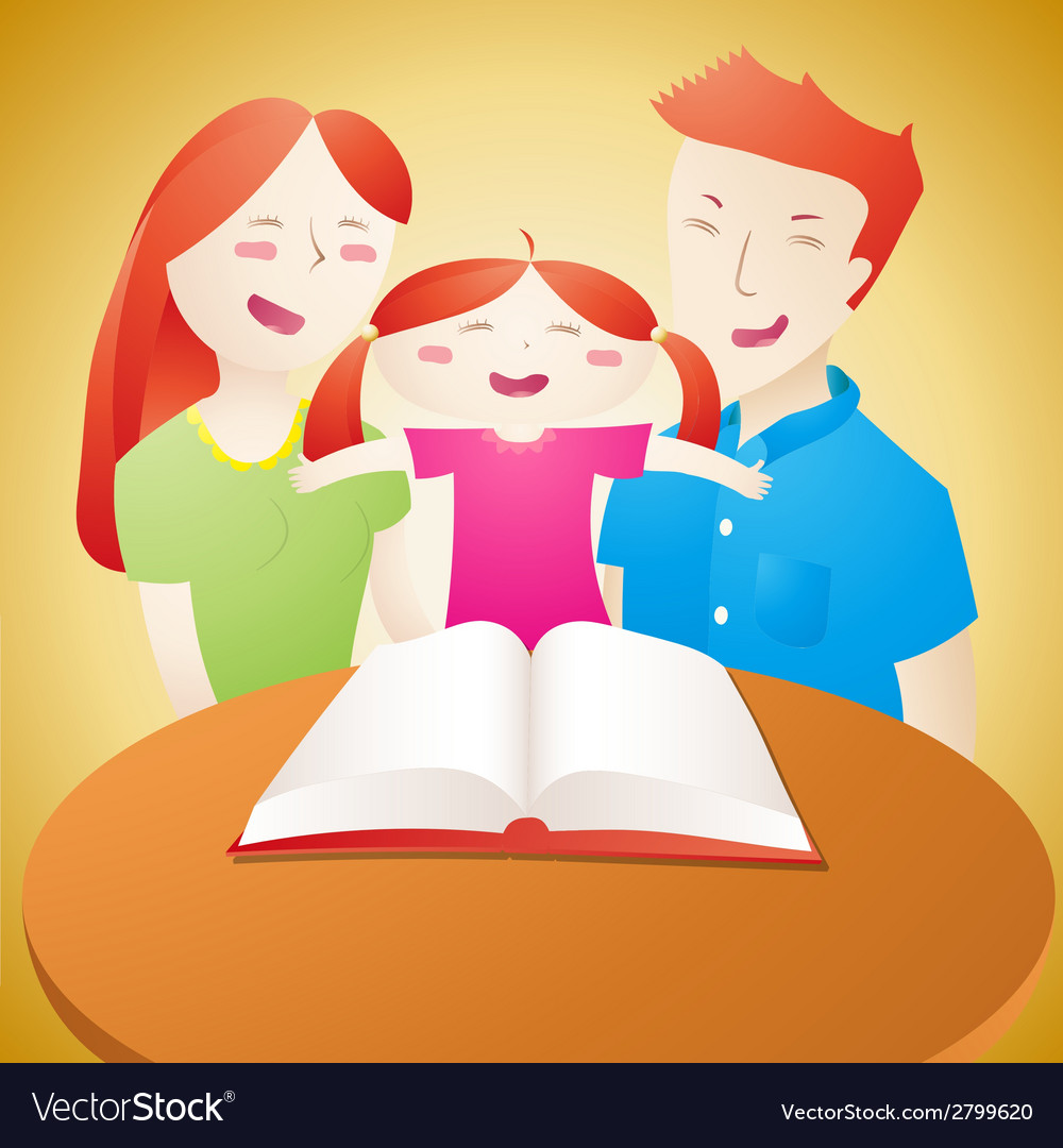 Family read book vector | Price: 1 Credit (USD $1)