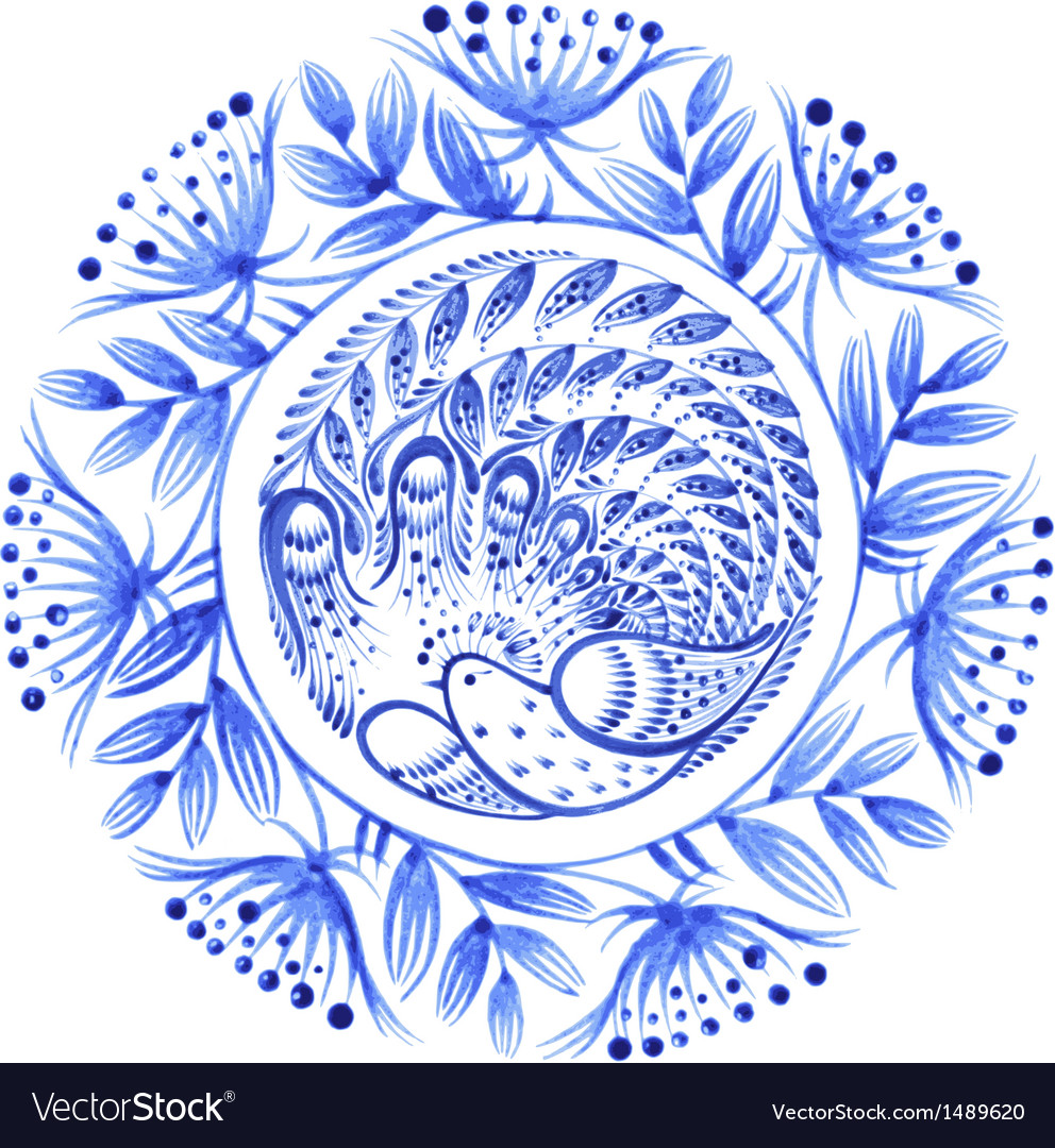 Floral circle vector | Price: 1 Credit (USD $1)
