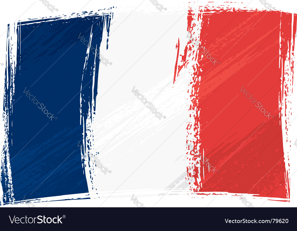Grunge france flag vector | Price: 1 Credit (USD $1)
