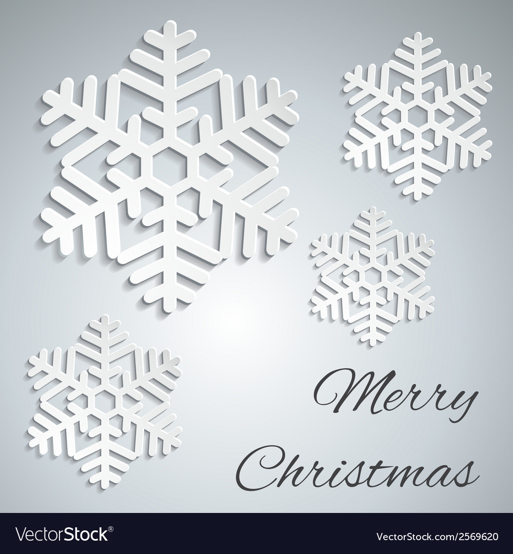 Merry christmas - paper vector | Price: 1 Credit (USD $1)