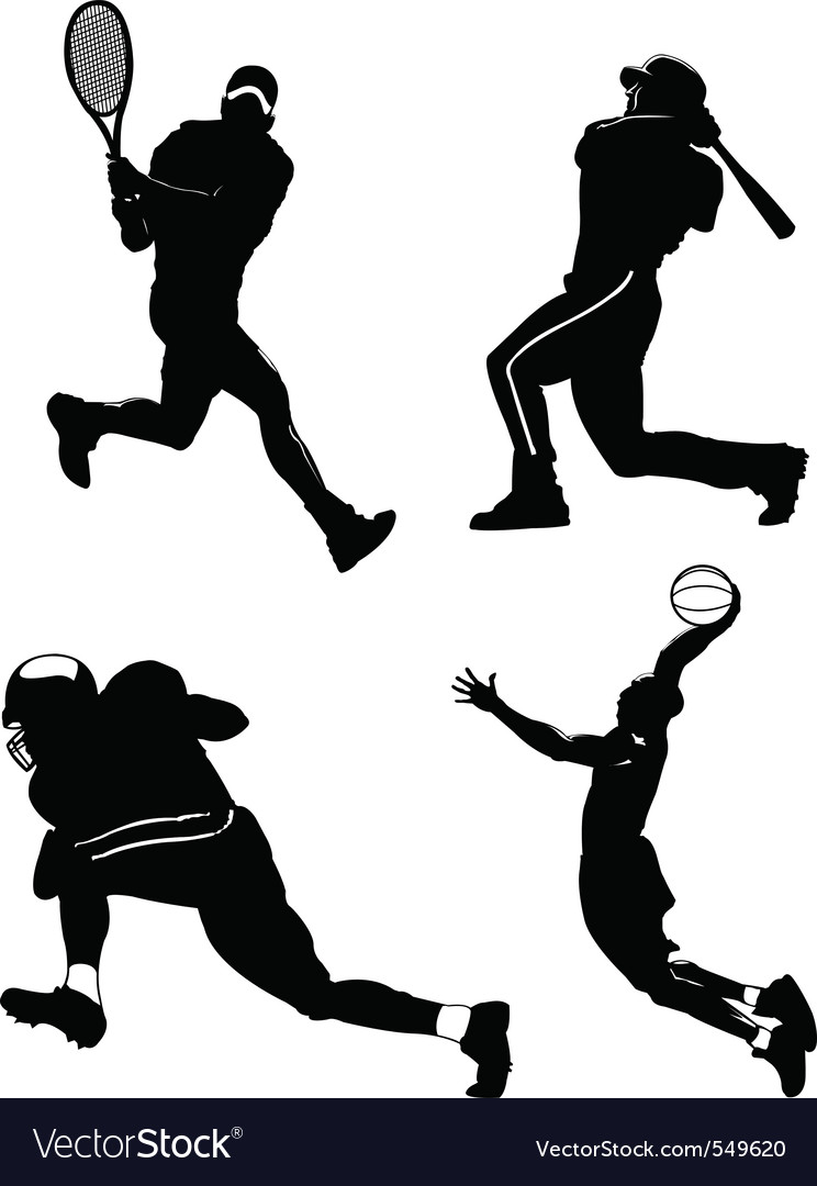 Sports figures vector | Price: 1 Credit (USD $1)