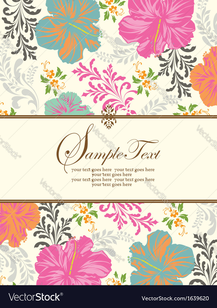 Spring floral background with place for text vector | Price: 1 Credit (USD $1)