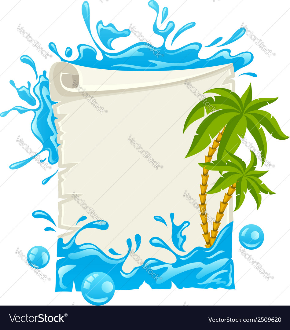 Travel poster with water vector | Price: 3 Credit (USD $3)