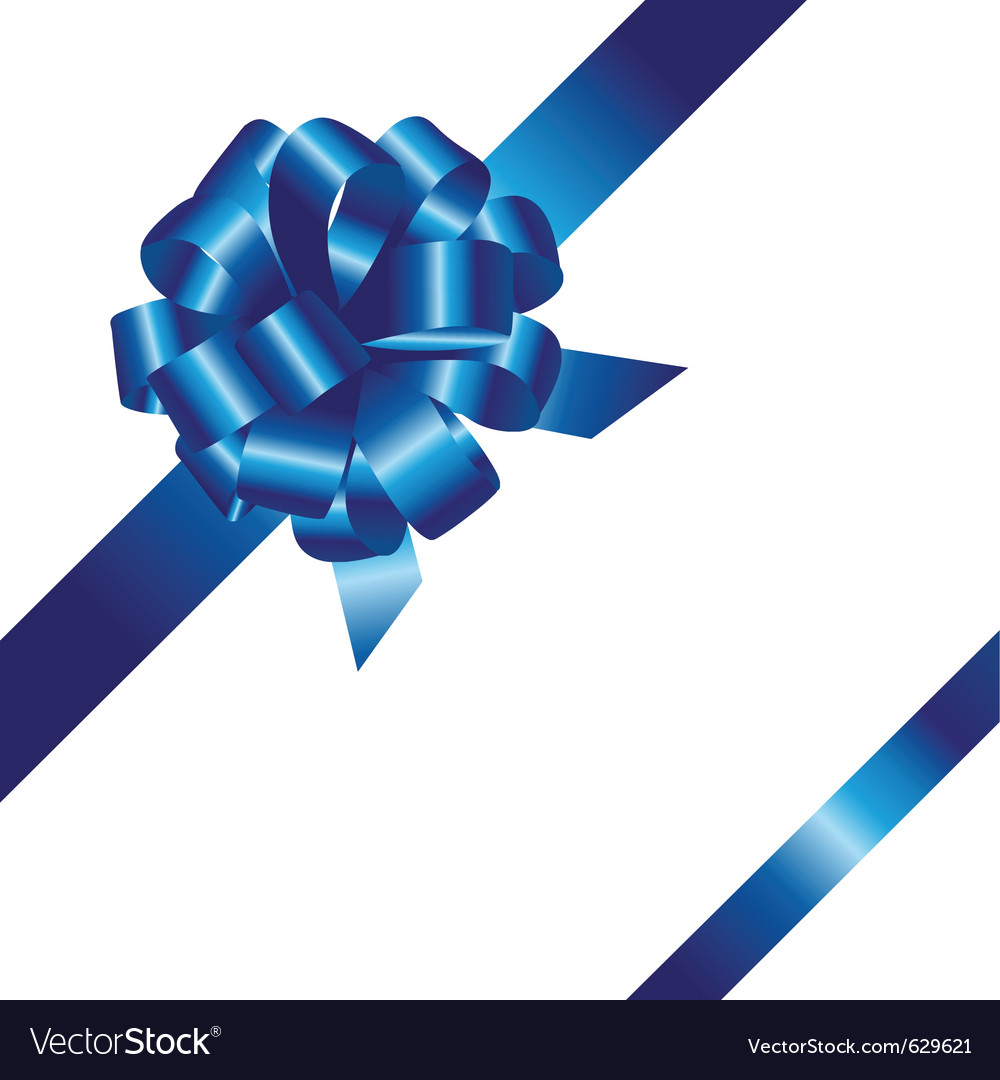 Blue ribbon and bow vector | Price: 1 Credit (USD $1)