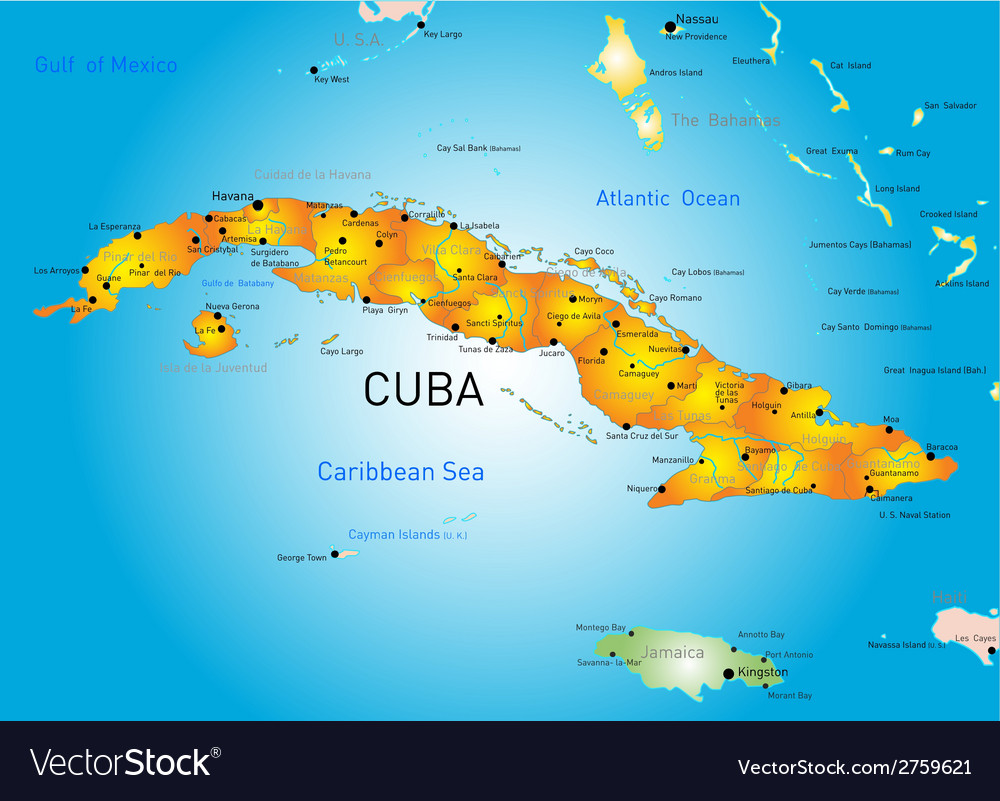 Cuba country vector | Price: 1 Credit (USD $1)