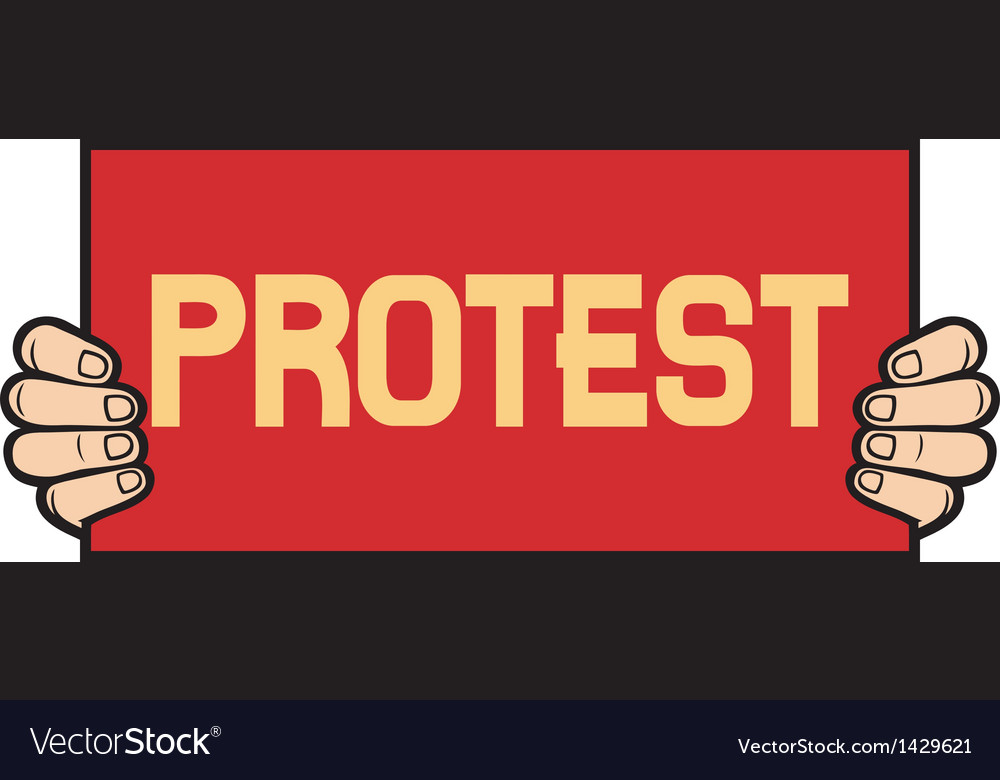 Hand held a banner-protest vector | Price: 1 Credit (USD $1)