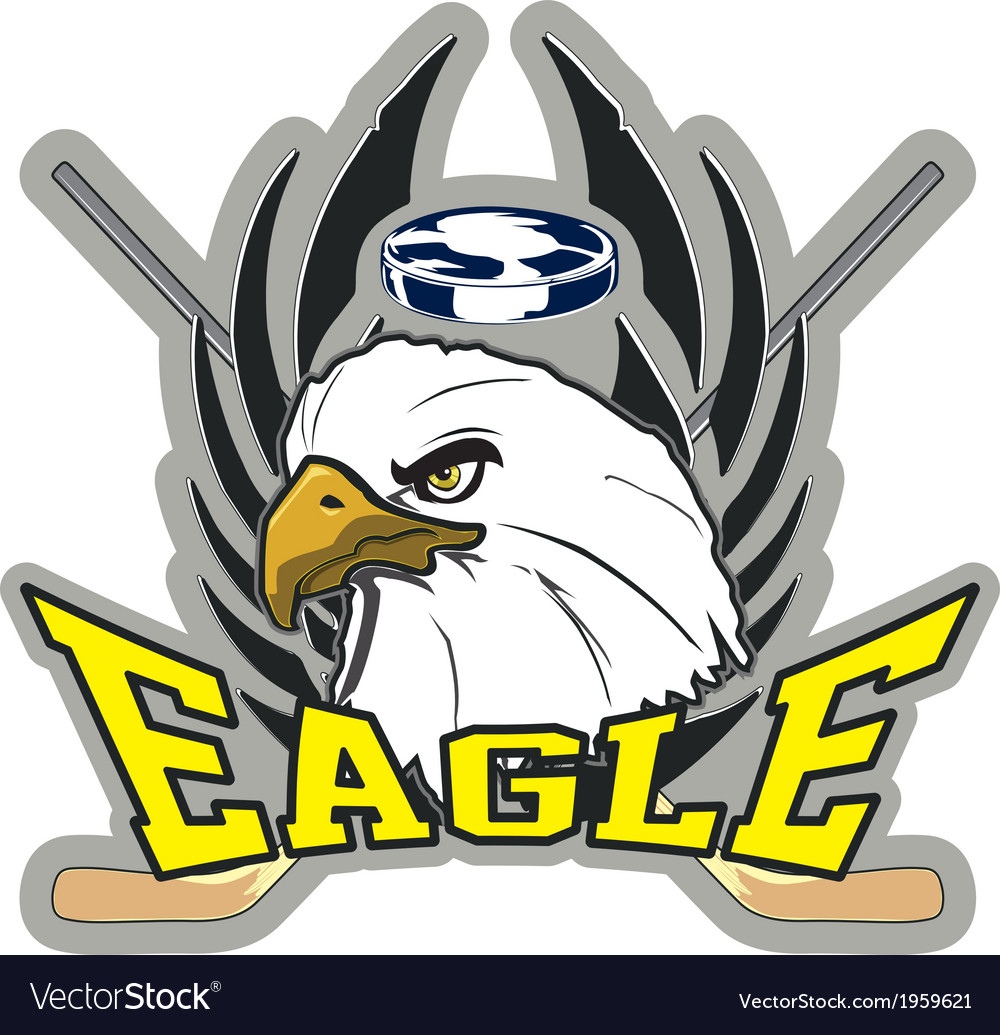 Hockey eagle vector | Price: 1 Credit (USD $1)