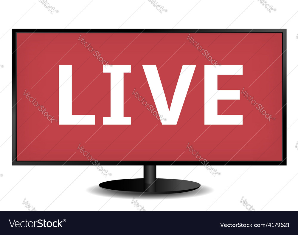 Live tv vector | Price: 1 Credit (USD $1)