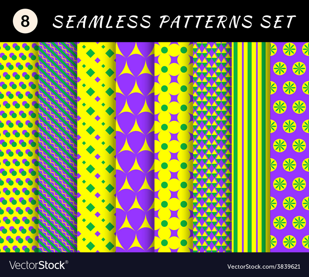 Mardi gras seamless patterns carnival backgrounds vector   Price: 1 Credit (USD $1)
