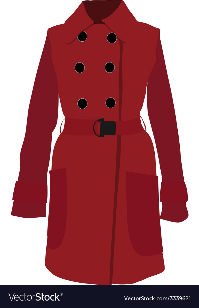 Red coat vector | Price: 1 Credit (USD $1)