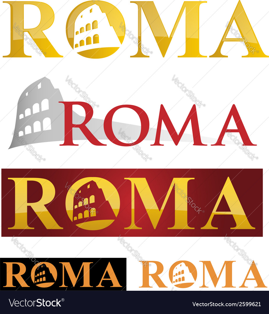 Rome icon symbol isolate on white background vector   Price: 1 Credit (USD $1)