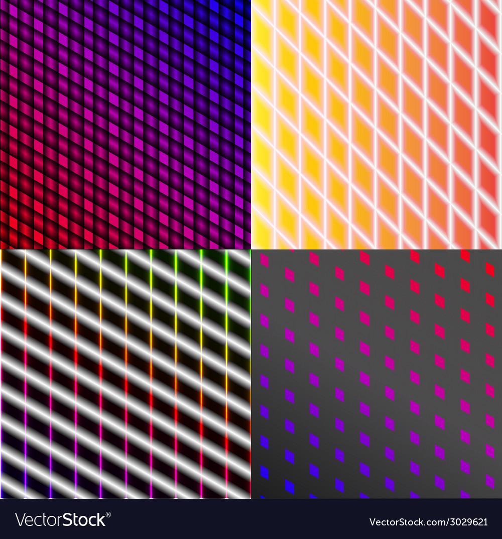 Set of dark abstract spectrum background lines vector | Price: 1 Credit (USD $1)