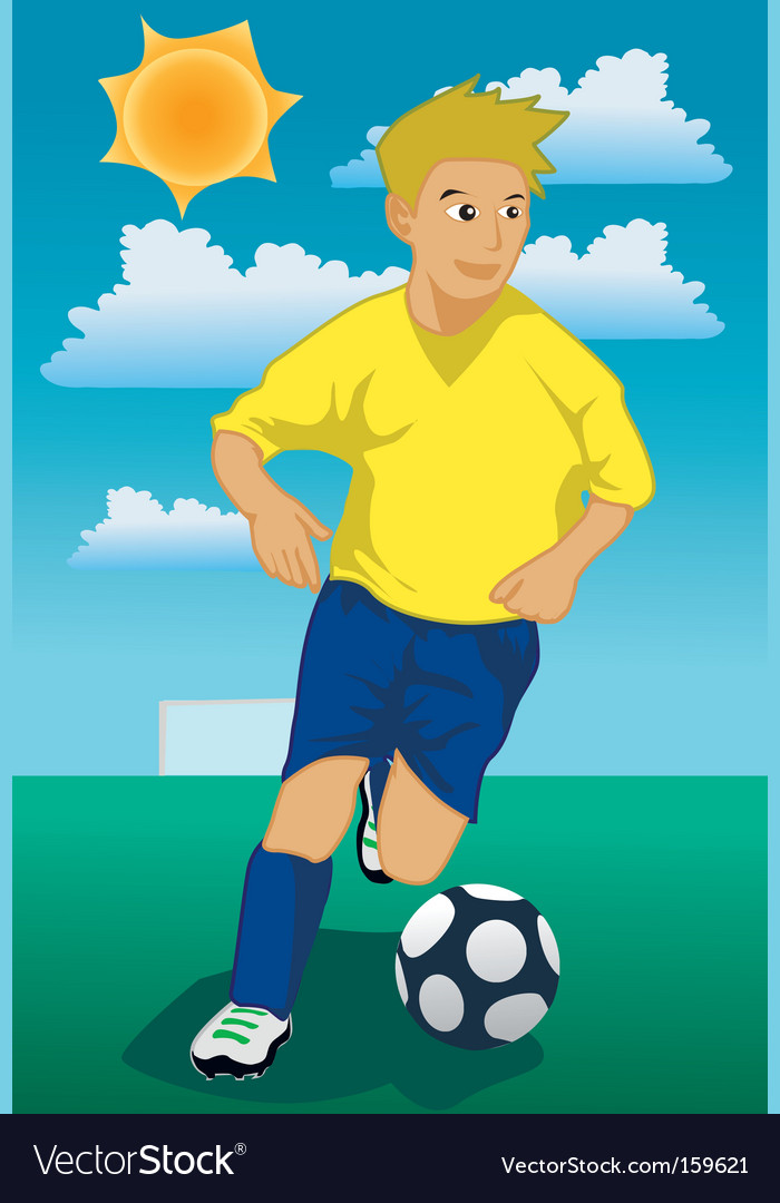 Soccer run vector | Price: 1 Credit (USD $1)