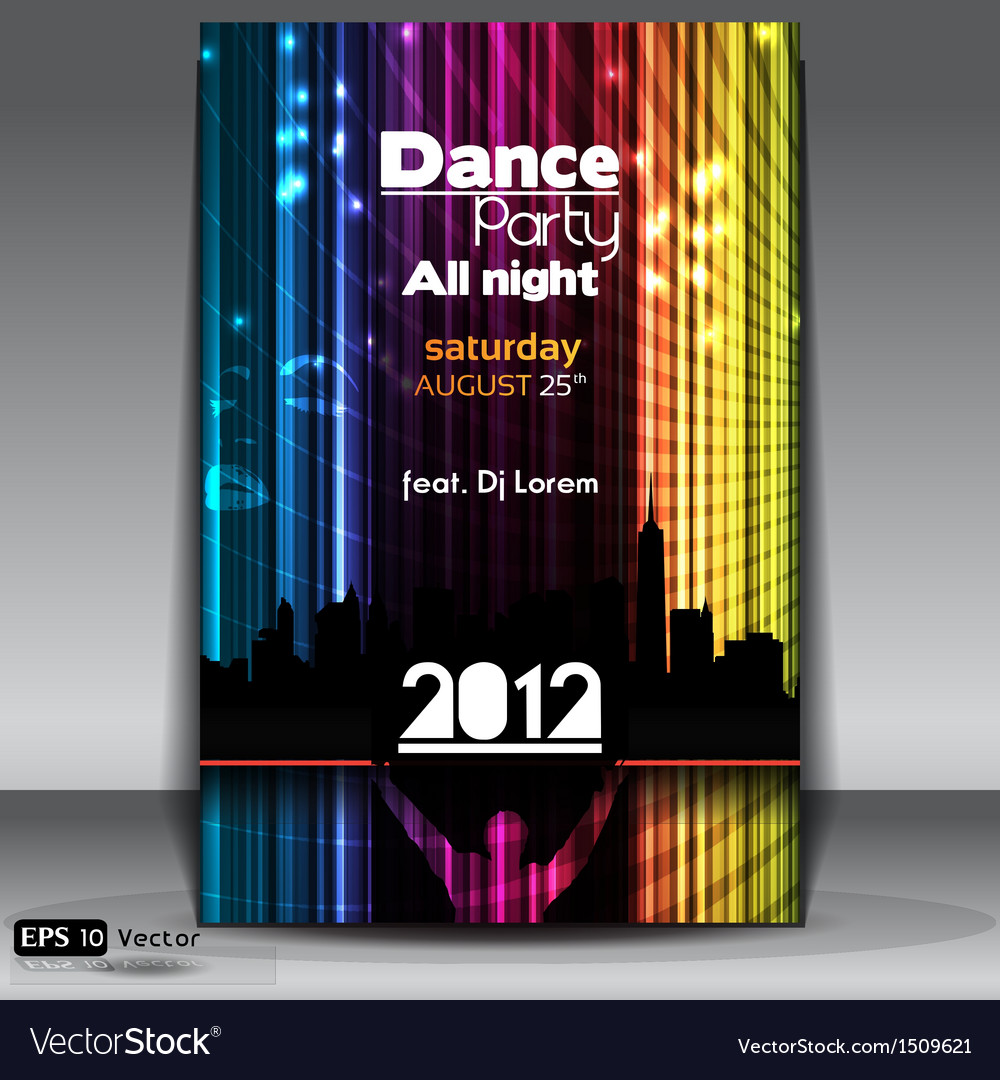 Urban dance party flyer vector | Price: 1 Credit (USD $1)