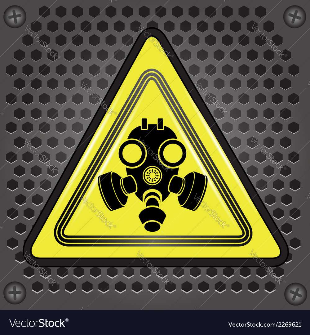 Yellow gas mask sign vector | Price: 1 Credit (USD $1)