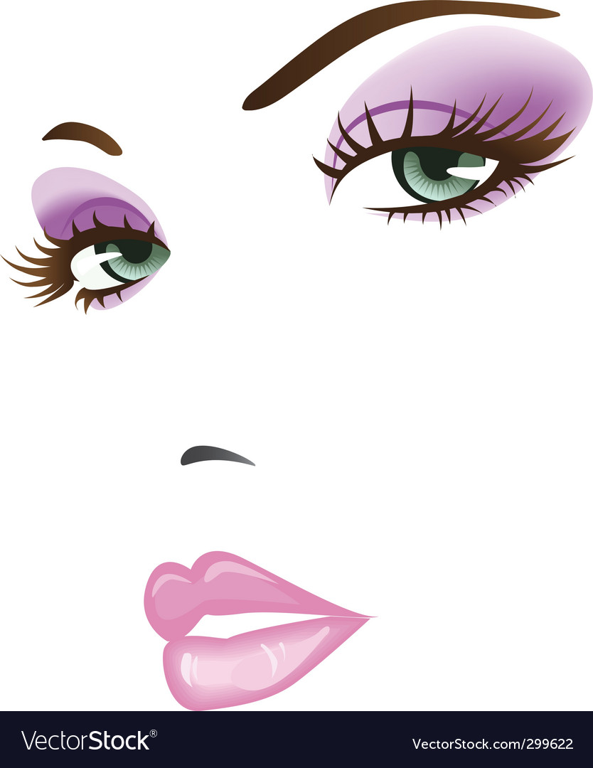 Beautiful face vector | Price: 1 Credit (USD $1)