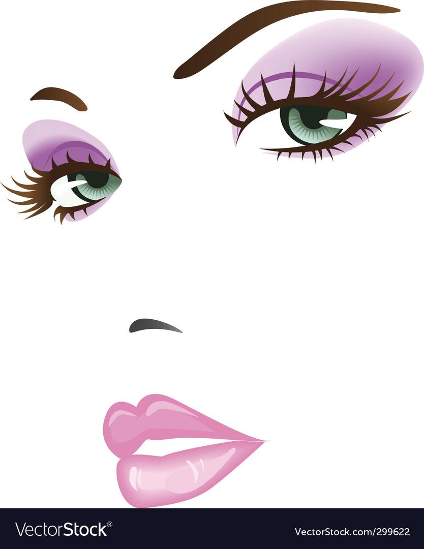 Beautiful face vector | Price: 1 Credit (USD $1)