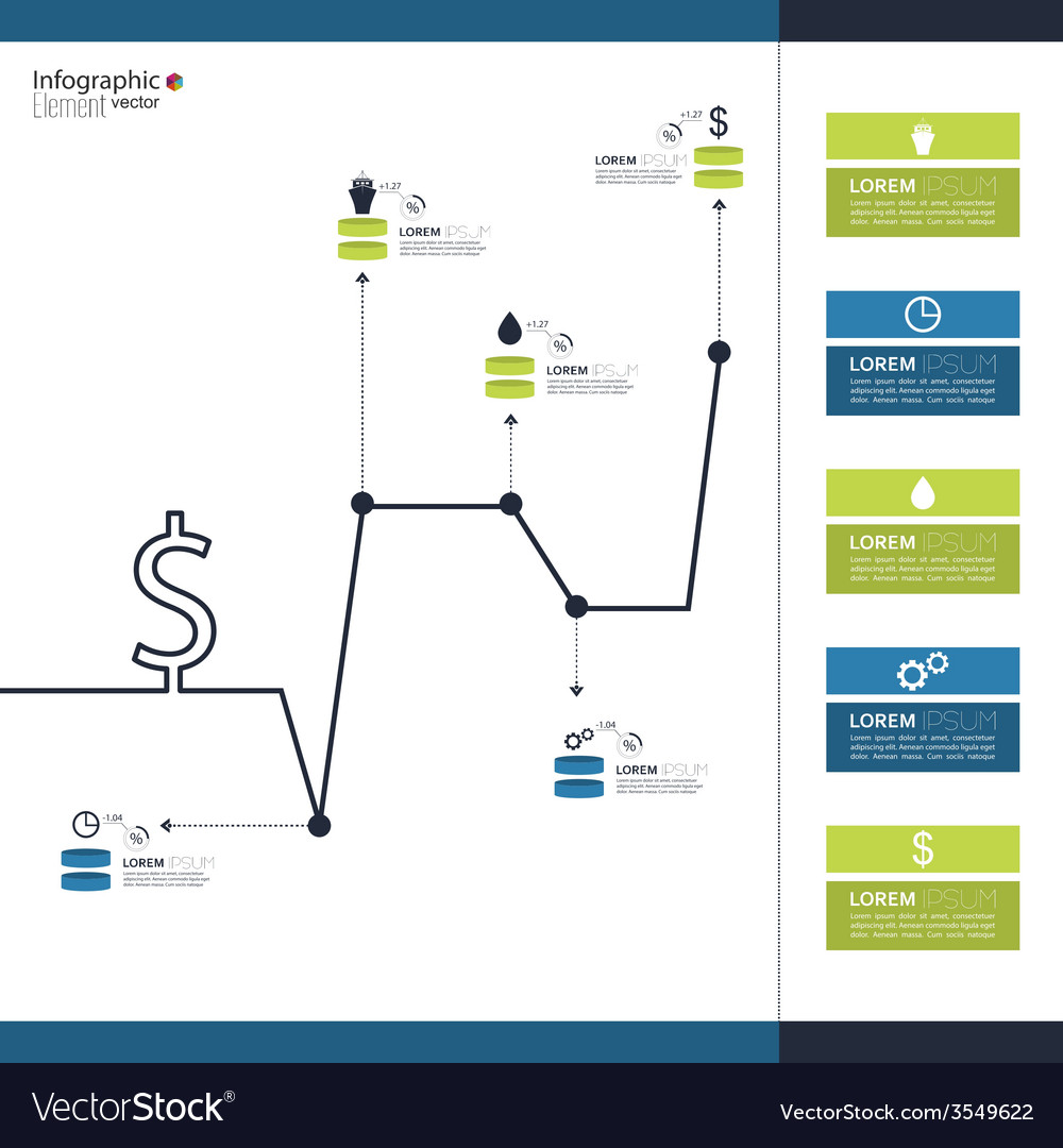 Comparative chart with templates for presentation vector   Price: 1 Credit (USD $1)
