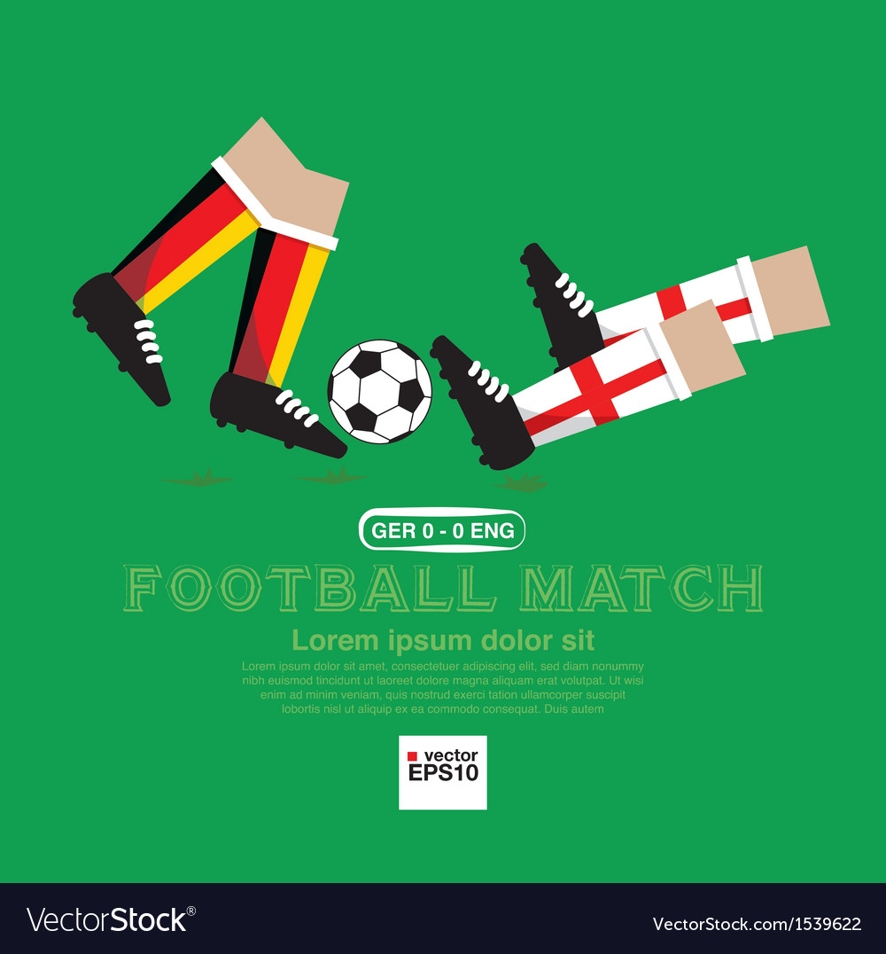 Football match eps10 vector   Price: 1 Credit (USD $1)